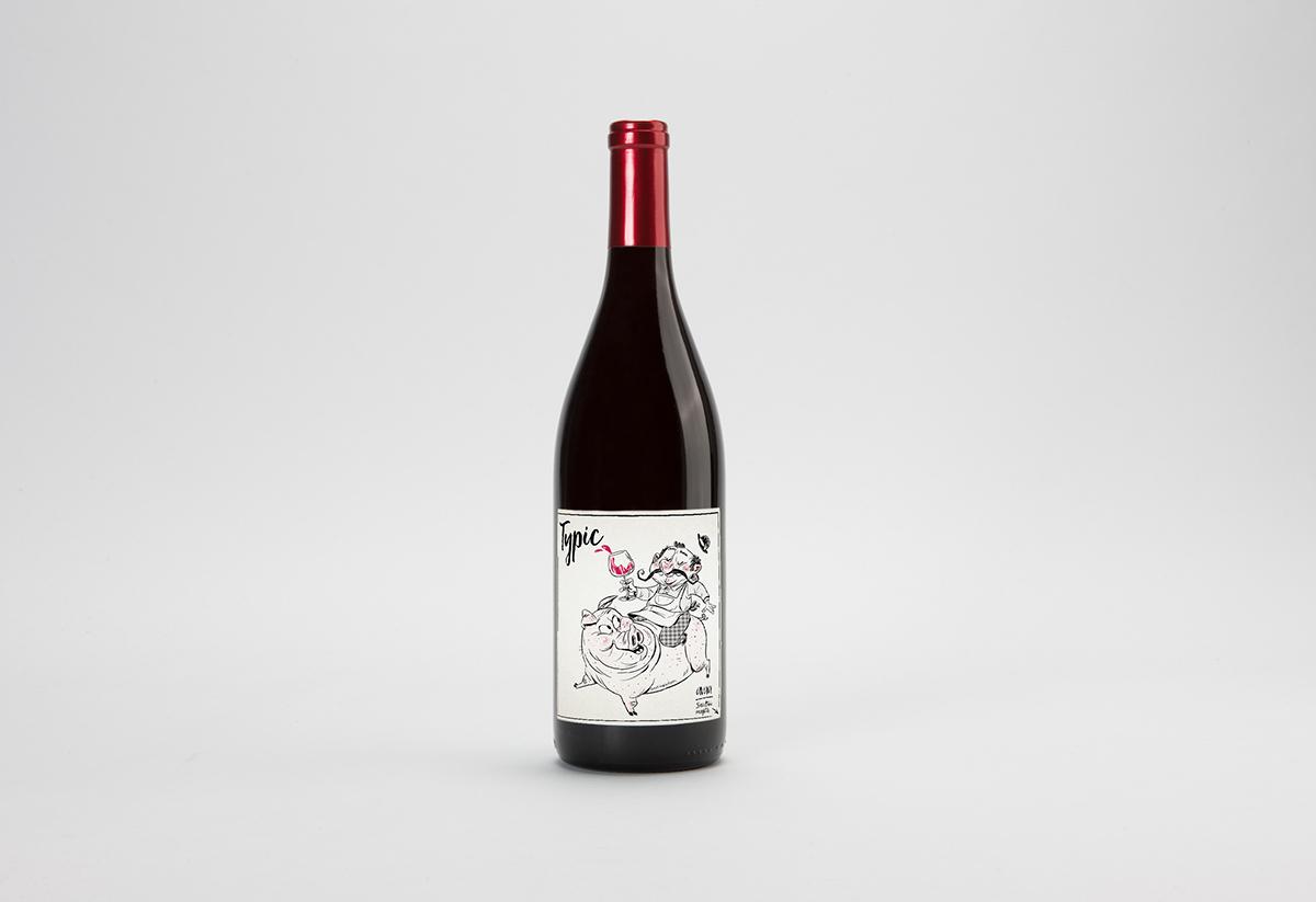 Wine Label Graphic Design Illustration On Behance