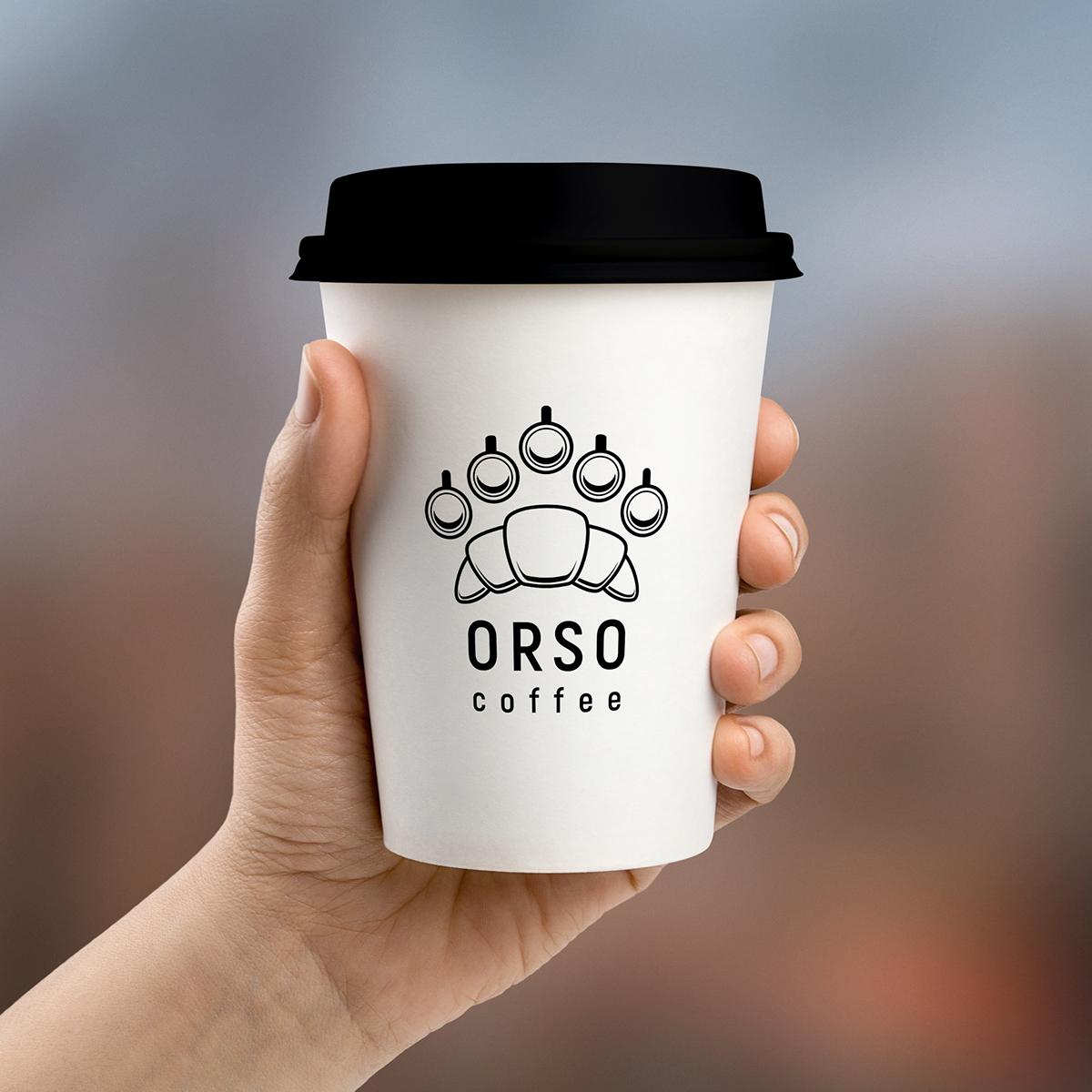Logo Design logo conceptual line bear espresso coffee shop Coffee branding