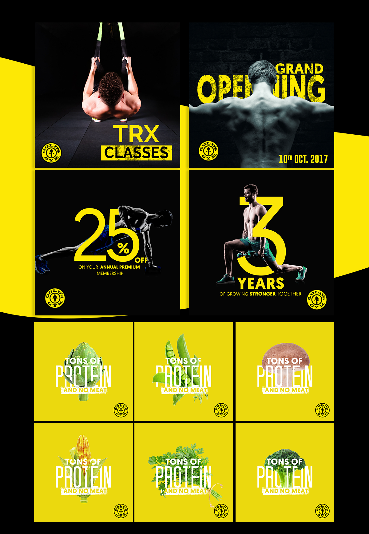 golds gym social media digital marketing sports cross fit golds gym kick boxing