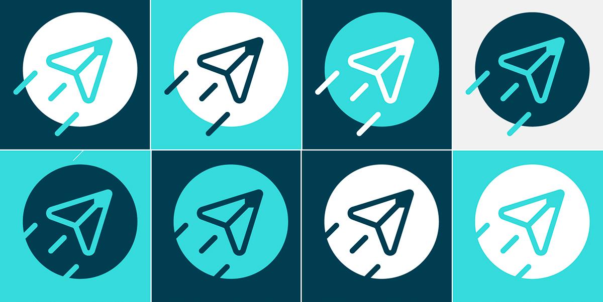 brand school logo logodesign graphic art blue cloud rebranding
