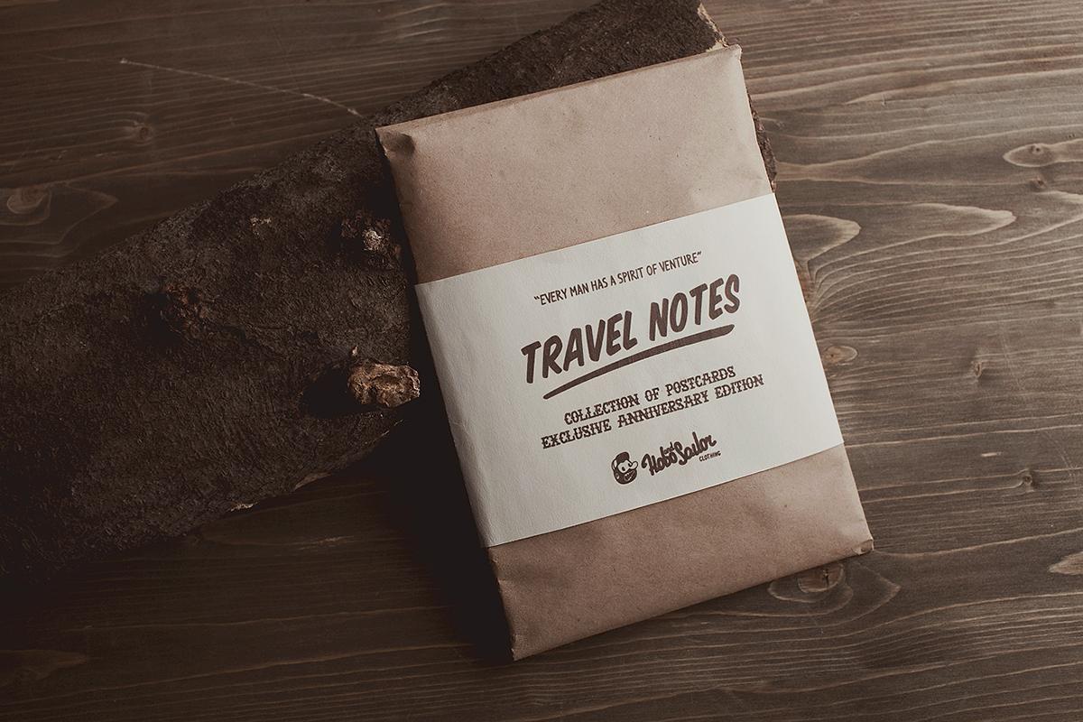 travel notes postcards adventure Character forest sea Ocean Native octopus Aeroplane zeppelin irish pub