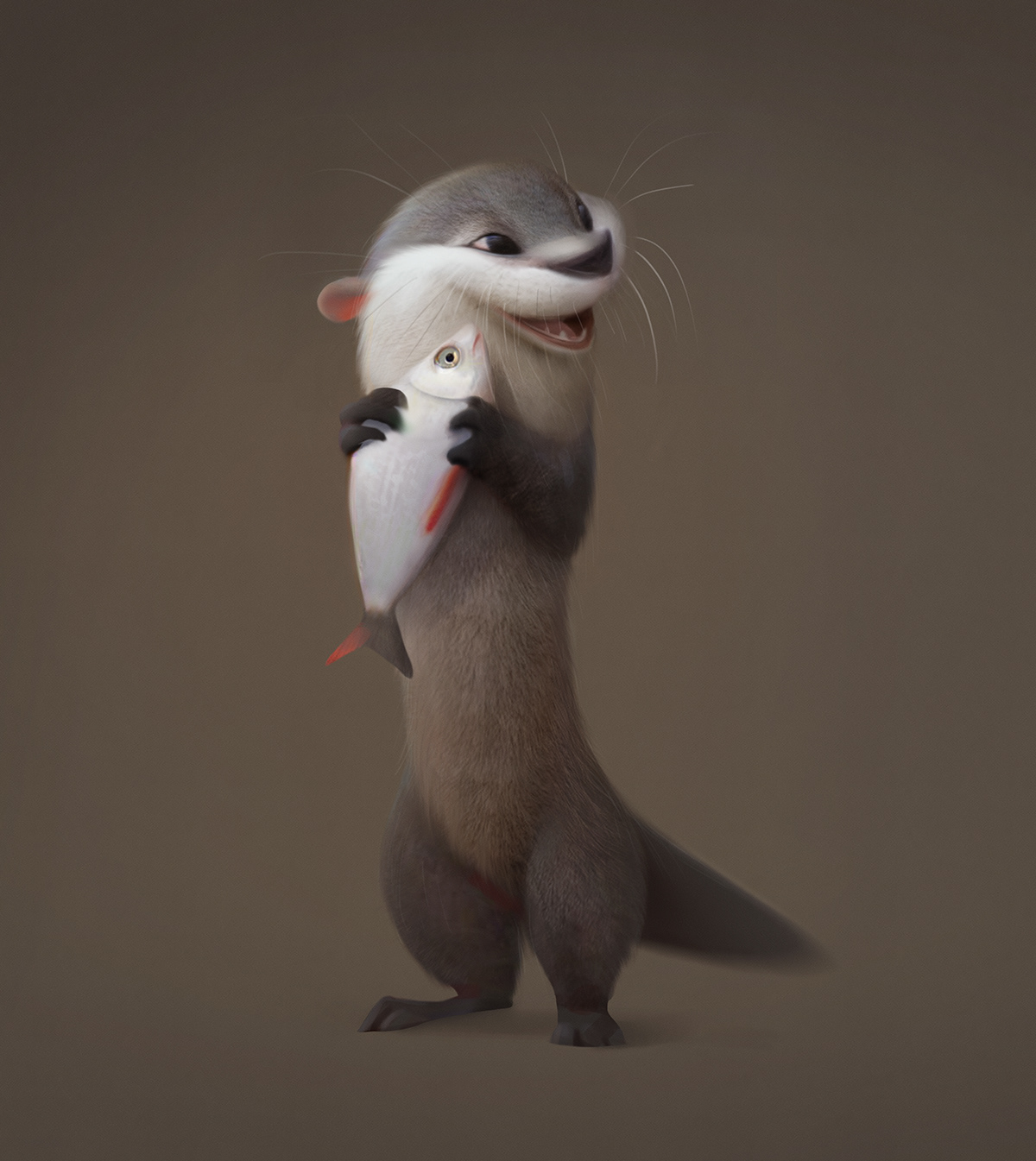 animals Character design  creature cute fluffy furry monster mouse otter rabbit