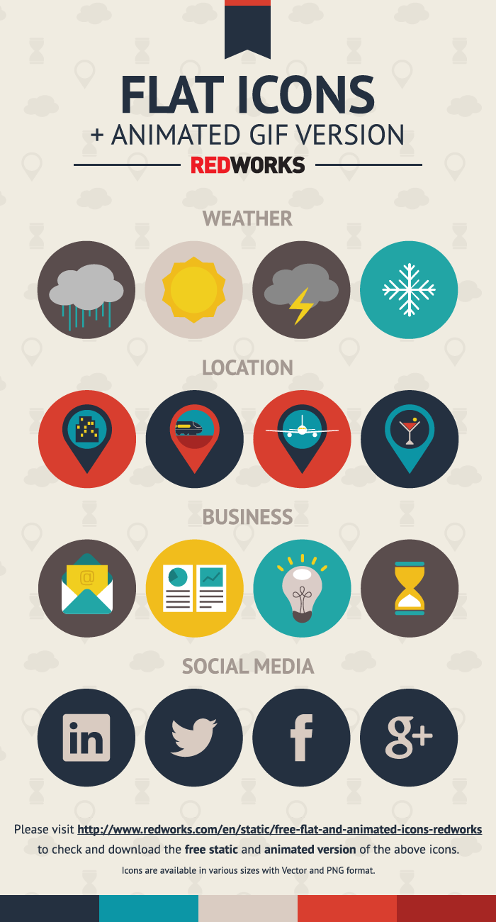 animated flat icons on behance