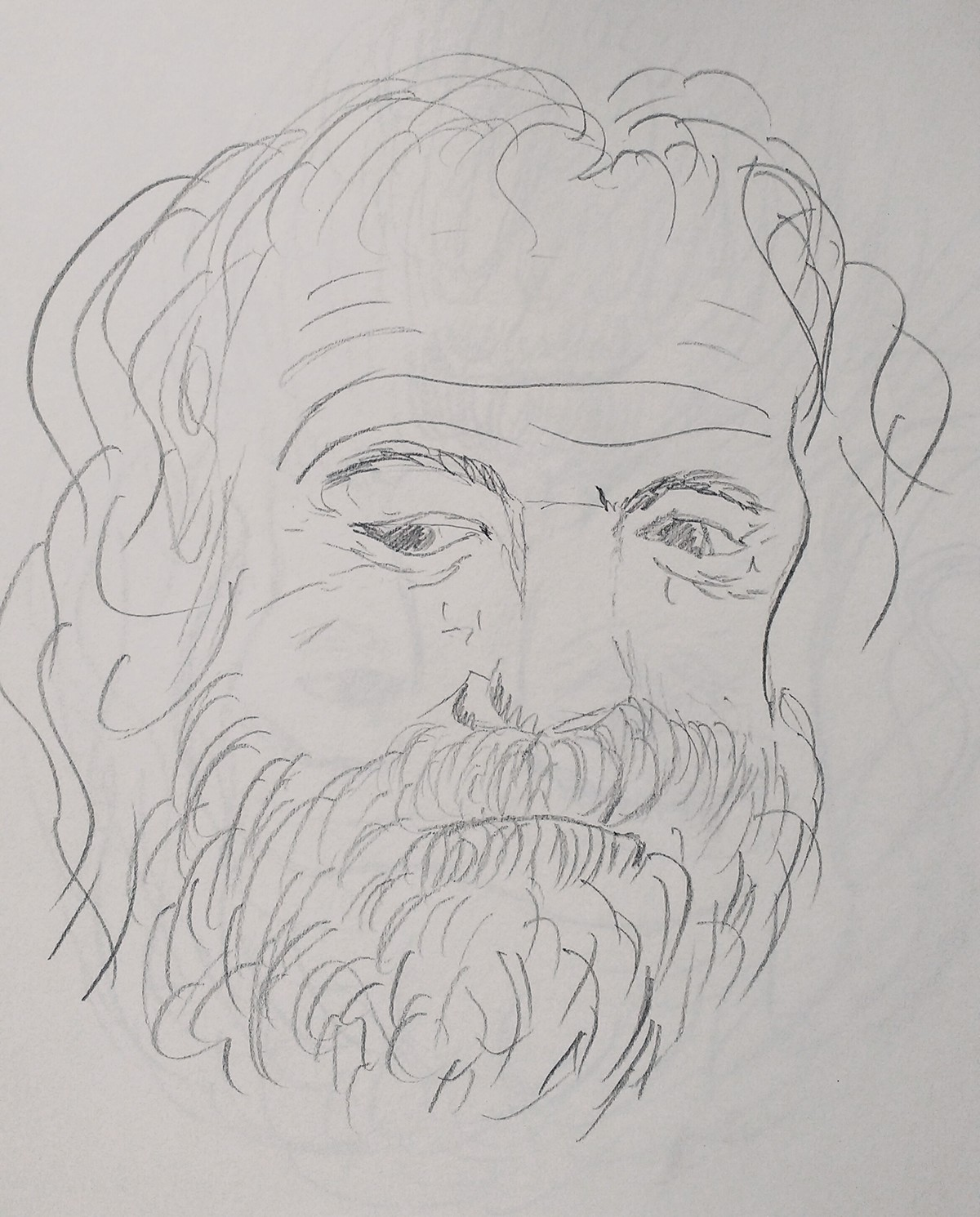 Old Man Drawing Excersize On Behance