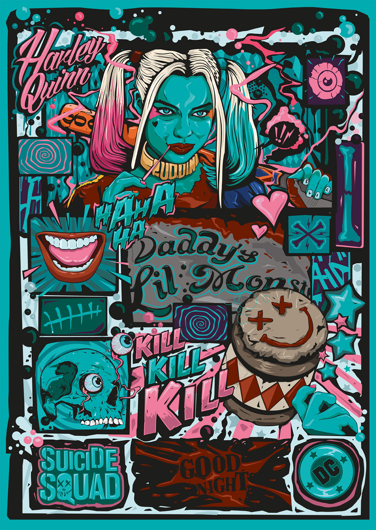 53a509658728 SUICIDE SQUAD HARLEY QUINN POSTER on Behance