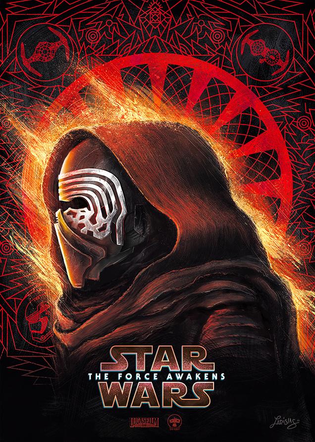 star wars the force awakens posters light dark side on