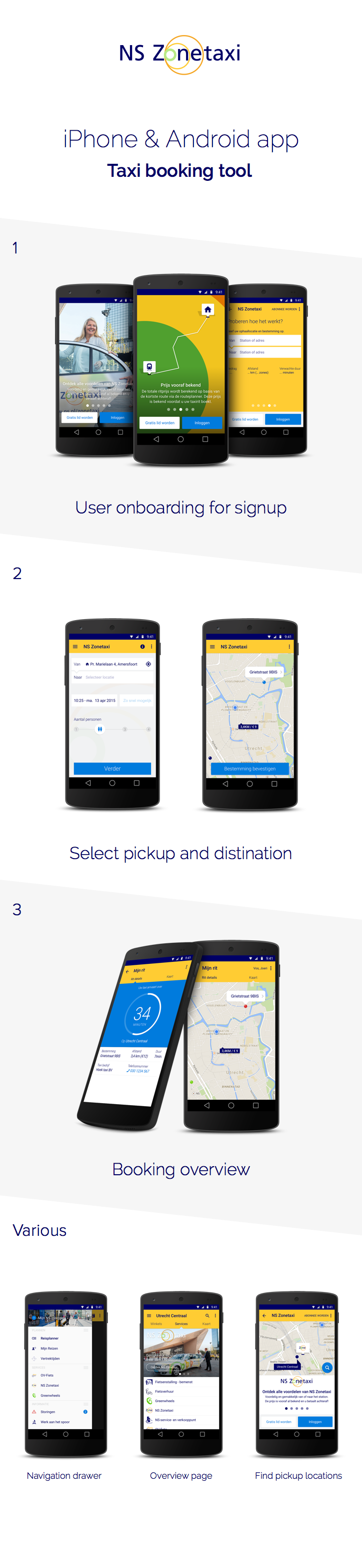 NS Zonetaxi iPhone & Android taxi booking on Behance