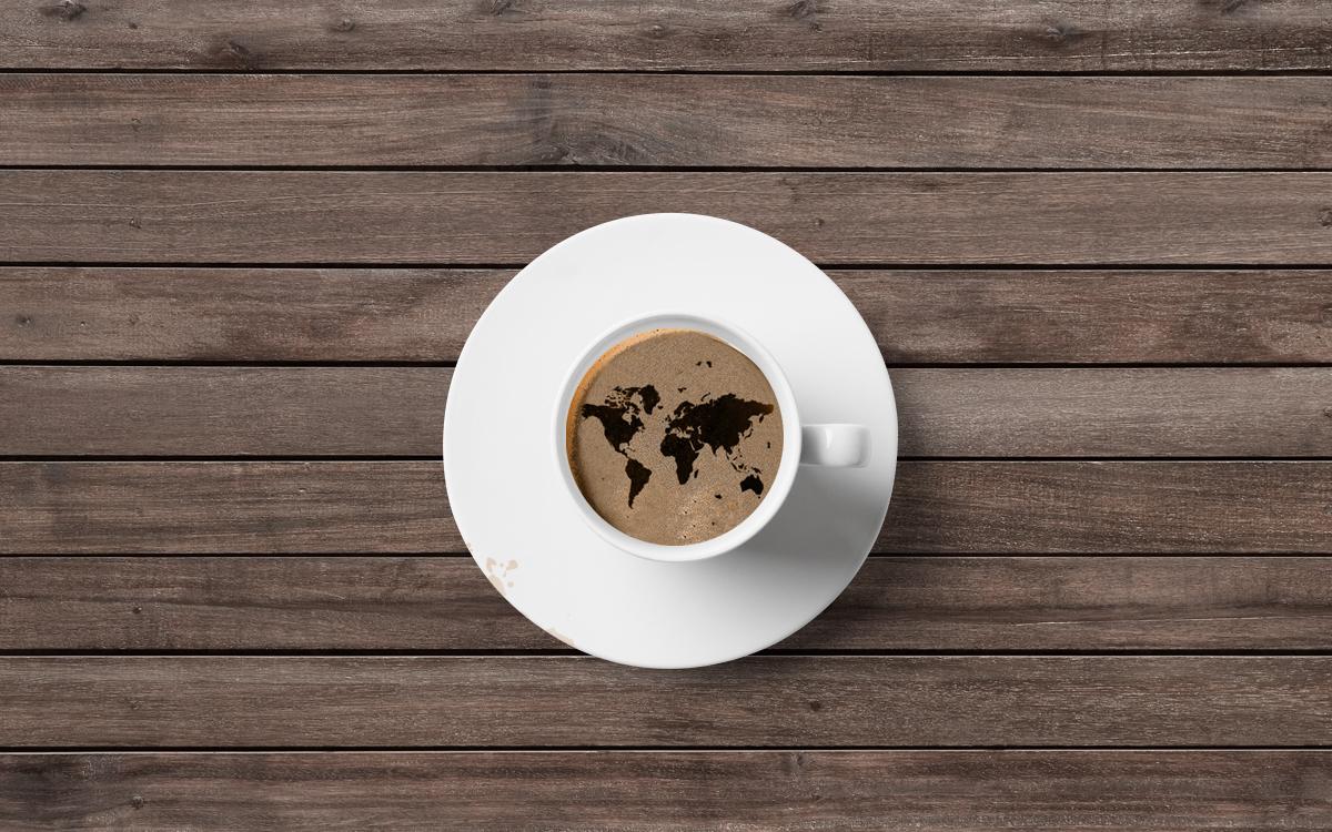 Coffee beans germany logo Logotype brand corporate Corporate Identity design branding agency orange business card identity Logo Design stationary