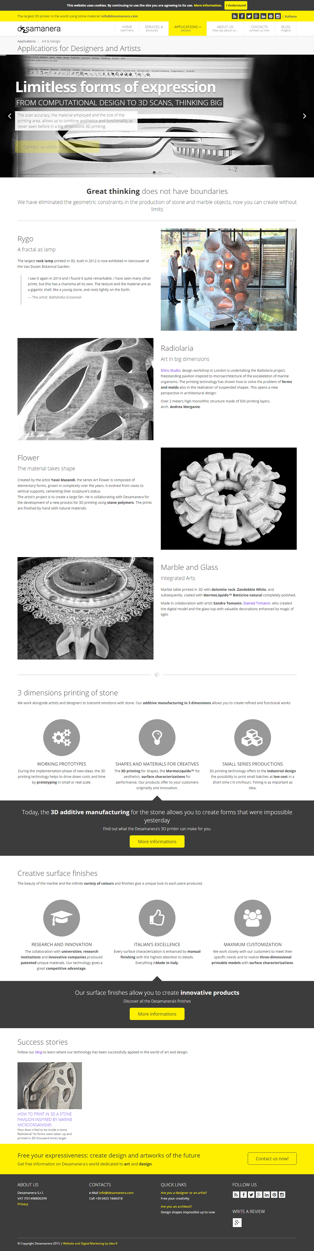 3D Printer Startup social media Bolg Responsive web design html5 Asp.Net