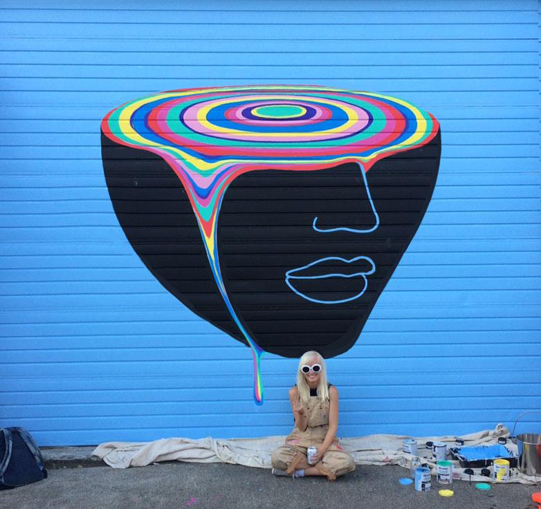 Garage door mural on behance for Thank you mural
