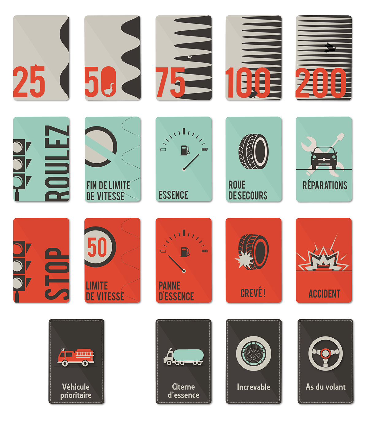 refonte du jeu du mille bornes on behance. Black Bedroom Furniture Sets. Home Design Ideas