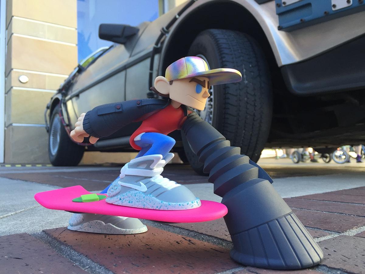 TTDoodles resin sculpture art toy designer toy bttf future boy