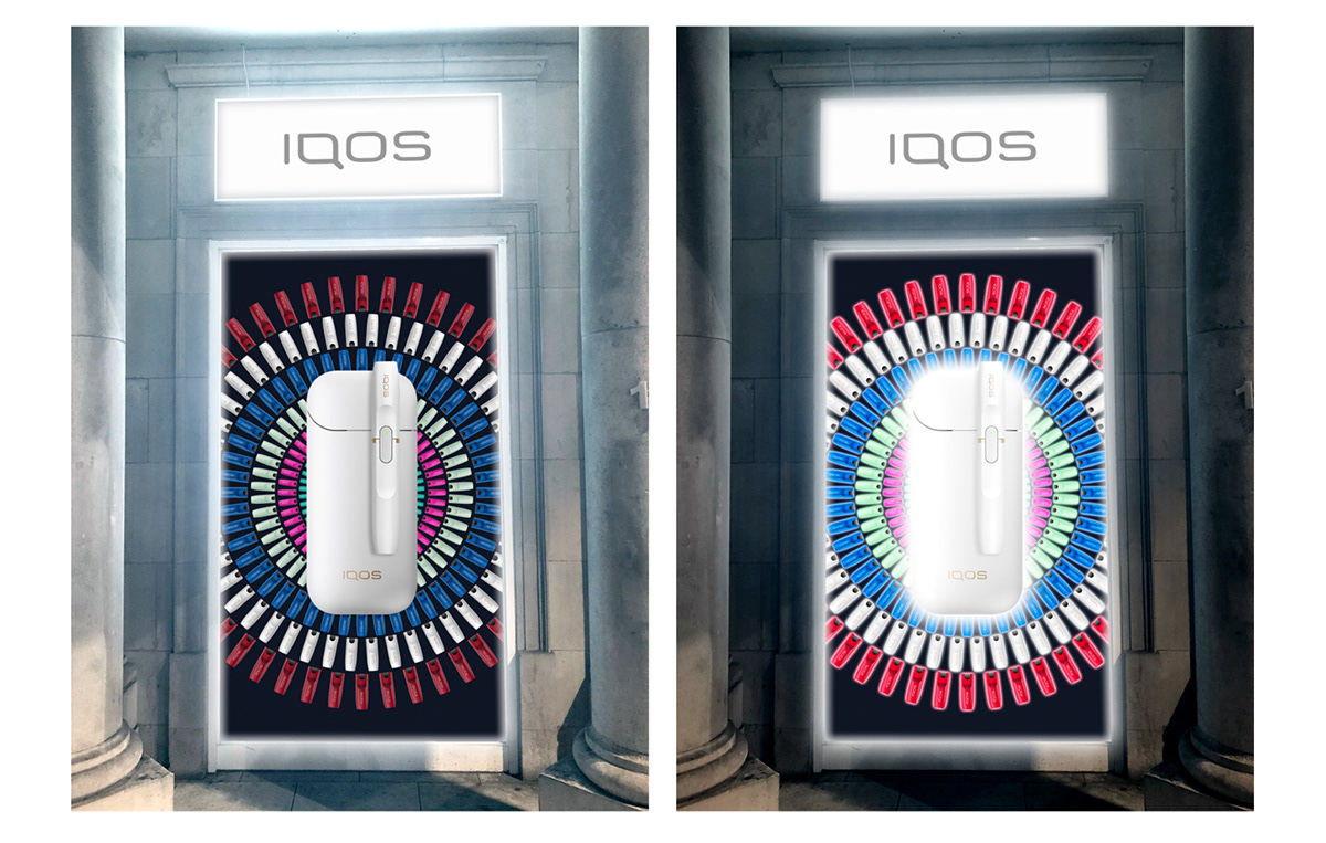 IQOS : KENSINGTON MOTION DISPLAY on Behance