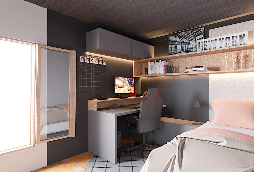 escritorio femaleroom gameroom homeoffice quartofeminino