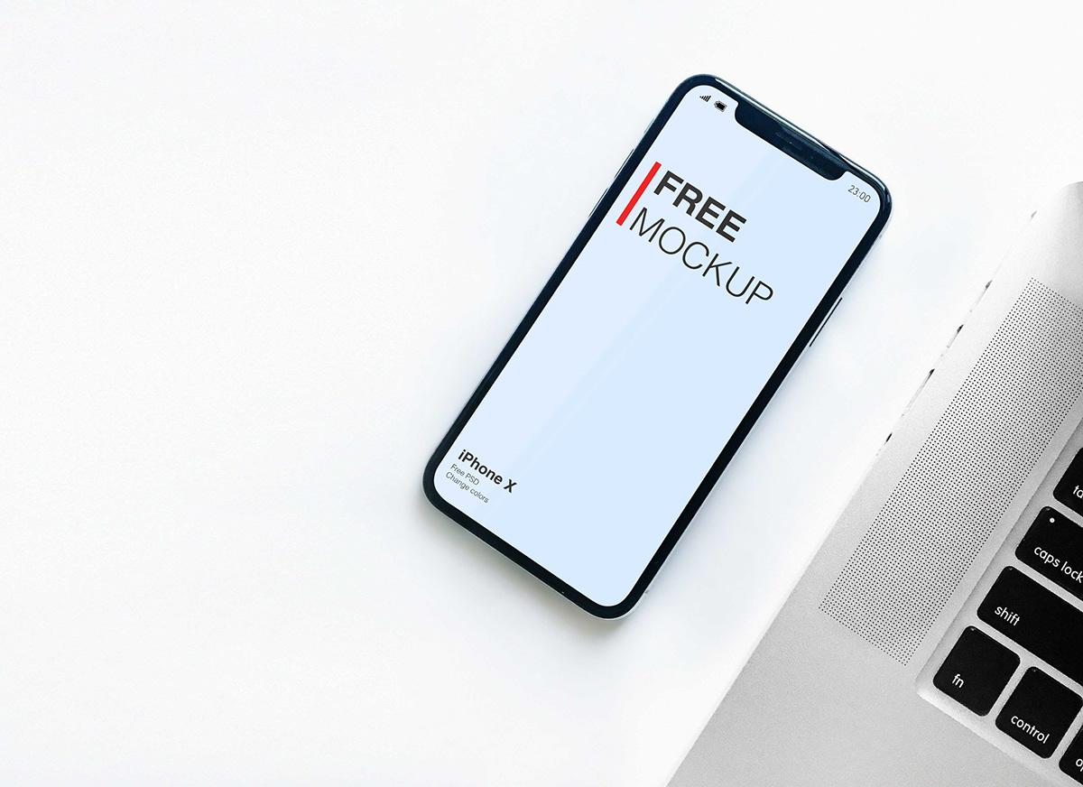 Mockup iphone iphonex mobile free clean White phone mockups i Phone