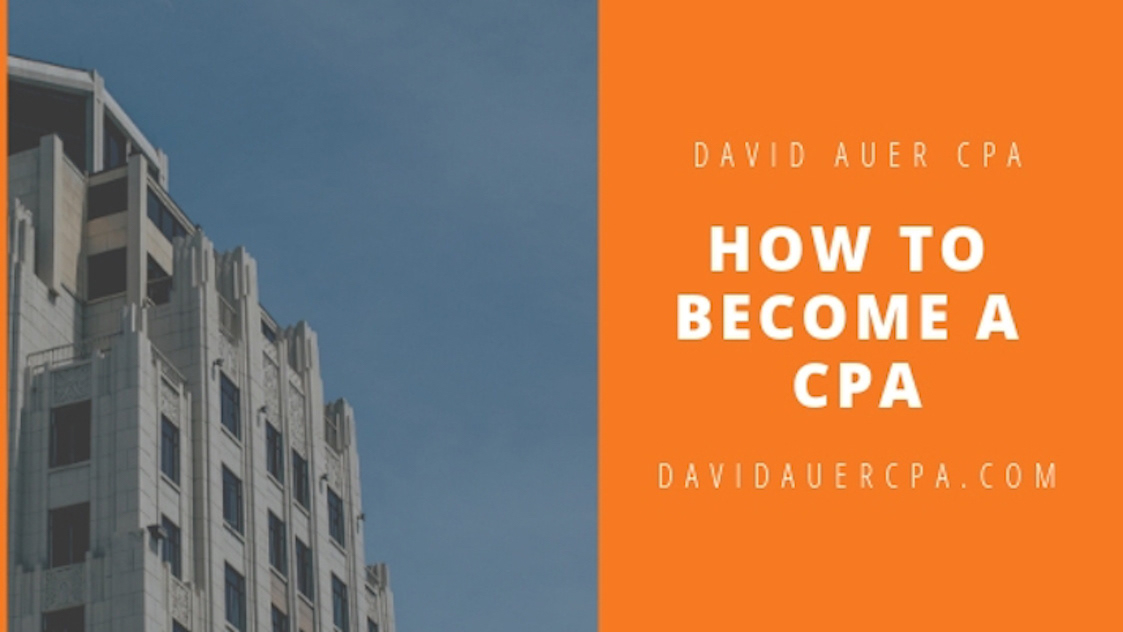 David Auer CPA cpa Certified Public Accountant Taxes finance accounting branding  writing