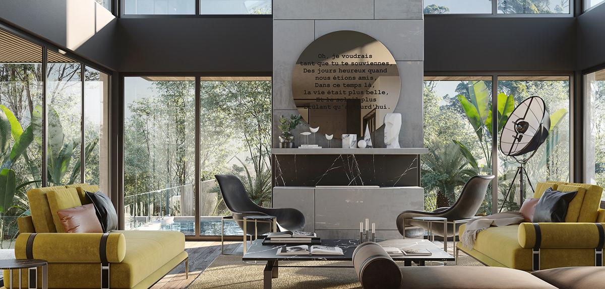 interior design  Render visualization