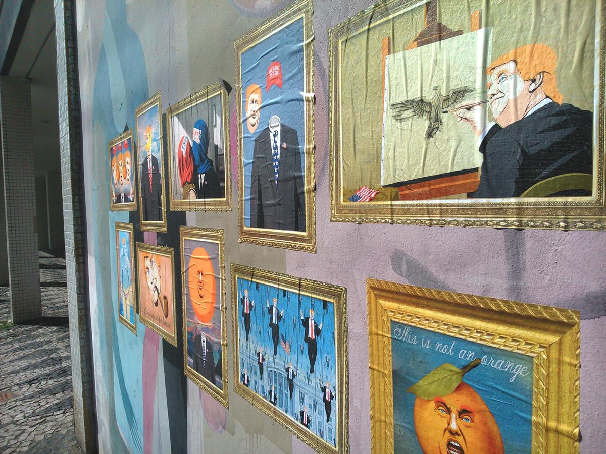 Donald Trump Trump rene magritte art surrealism Paintings Pop Art