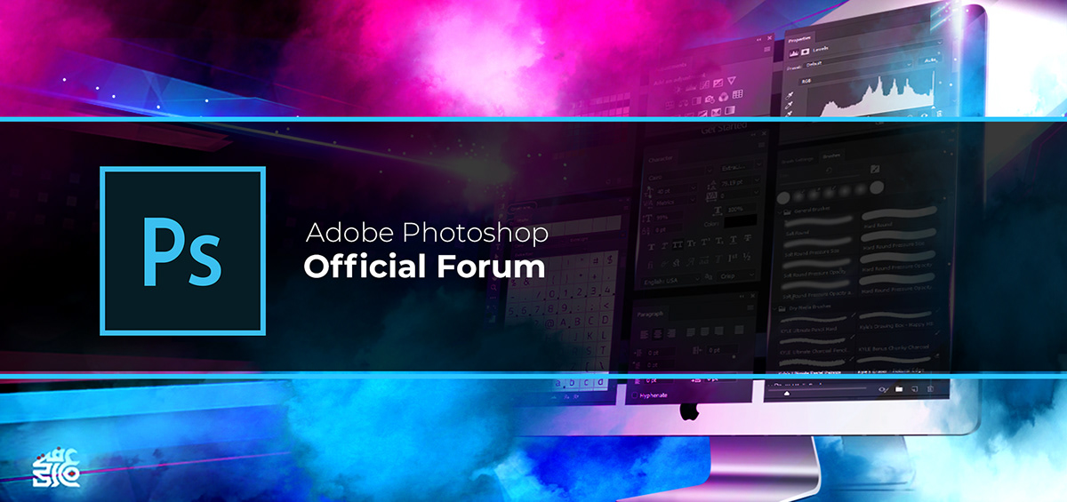Official Adobe Photoshop Community Forum Header On Pantone Canvas Gallery