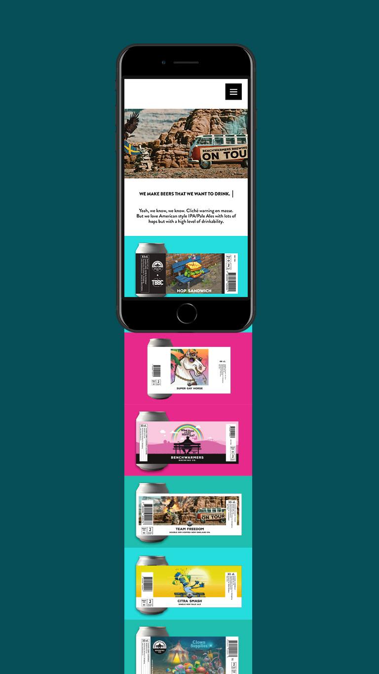 Adobe XD brewery UI/UX Webdesign Webdevelopment wordpress