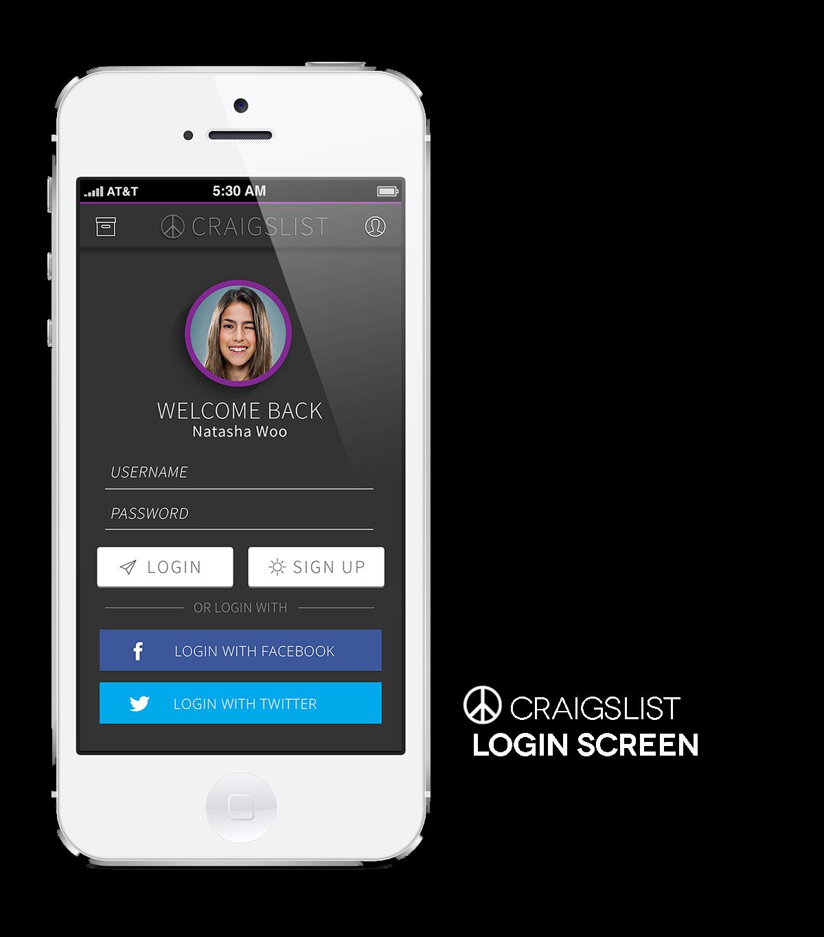 Craigslist App Concept Design on Behance