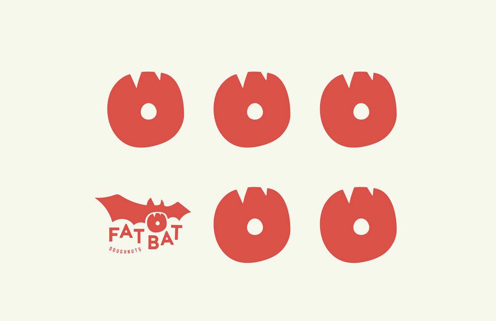 Donuts food branding branding  menu design menu layout tshirts Mugs gif