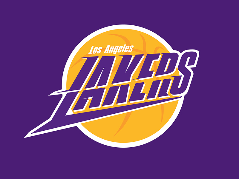 La lakers logo on behance voltagebd Images