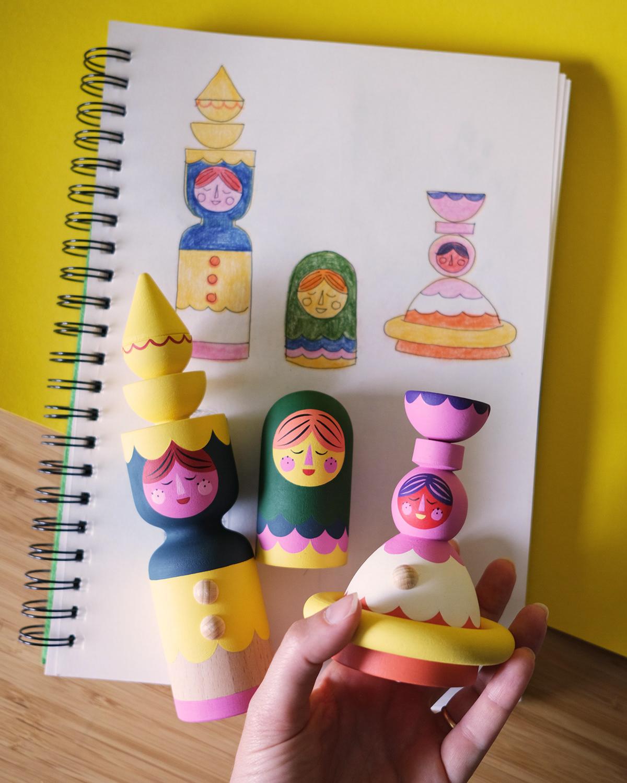 Acryilic paint bonecos de madeira colorful Design de brinquedos Fun pegdoll Spielzeug toyart wood wooden toys