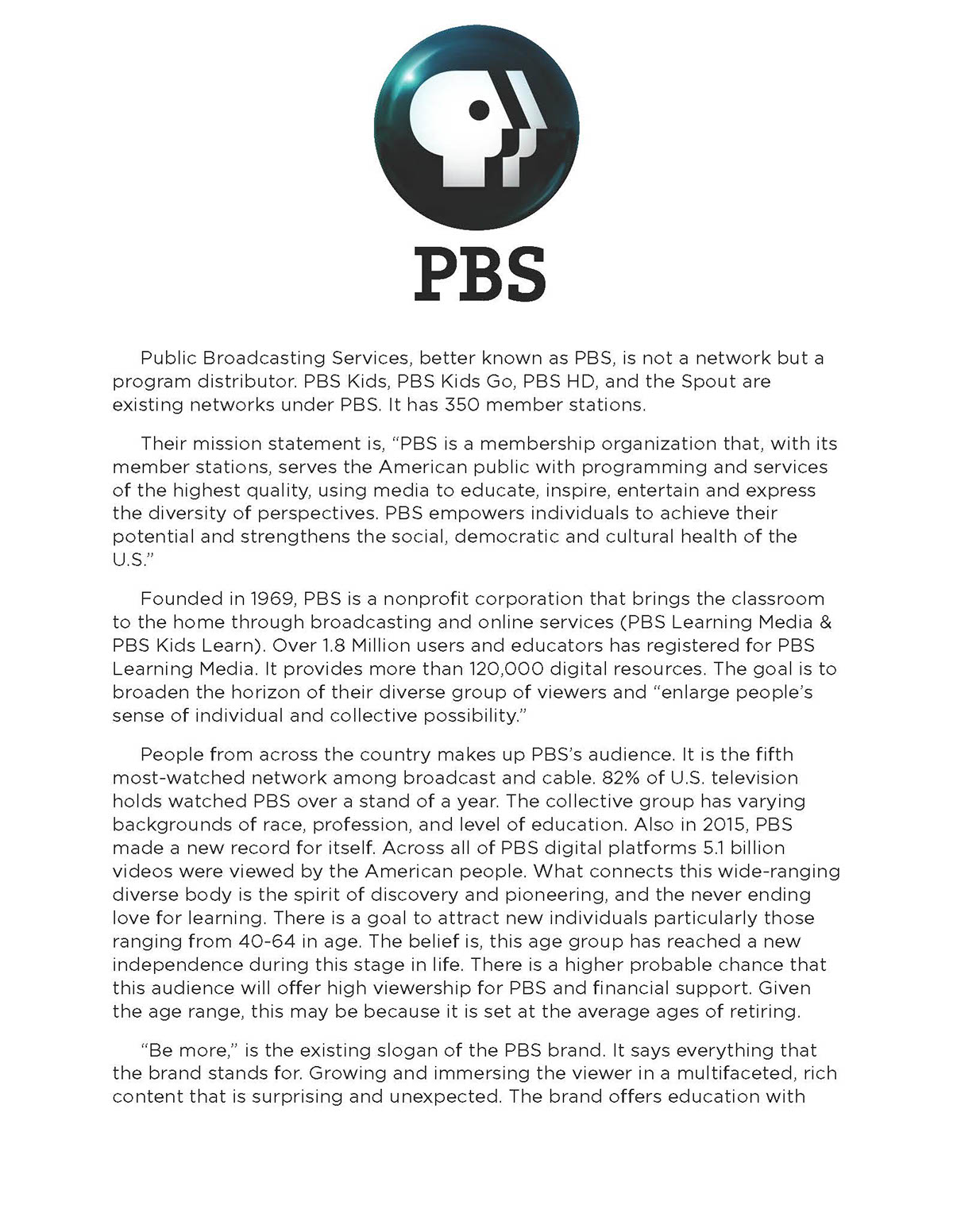 PBS Rebranding: Window To The World on Behance
