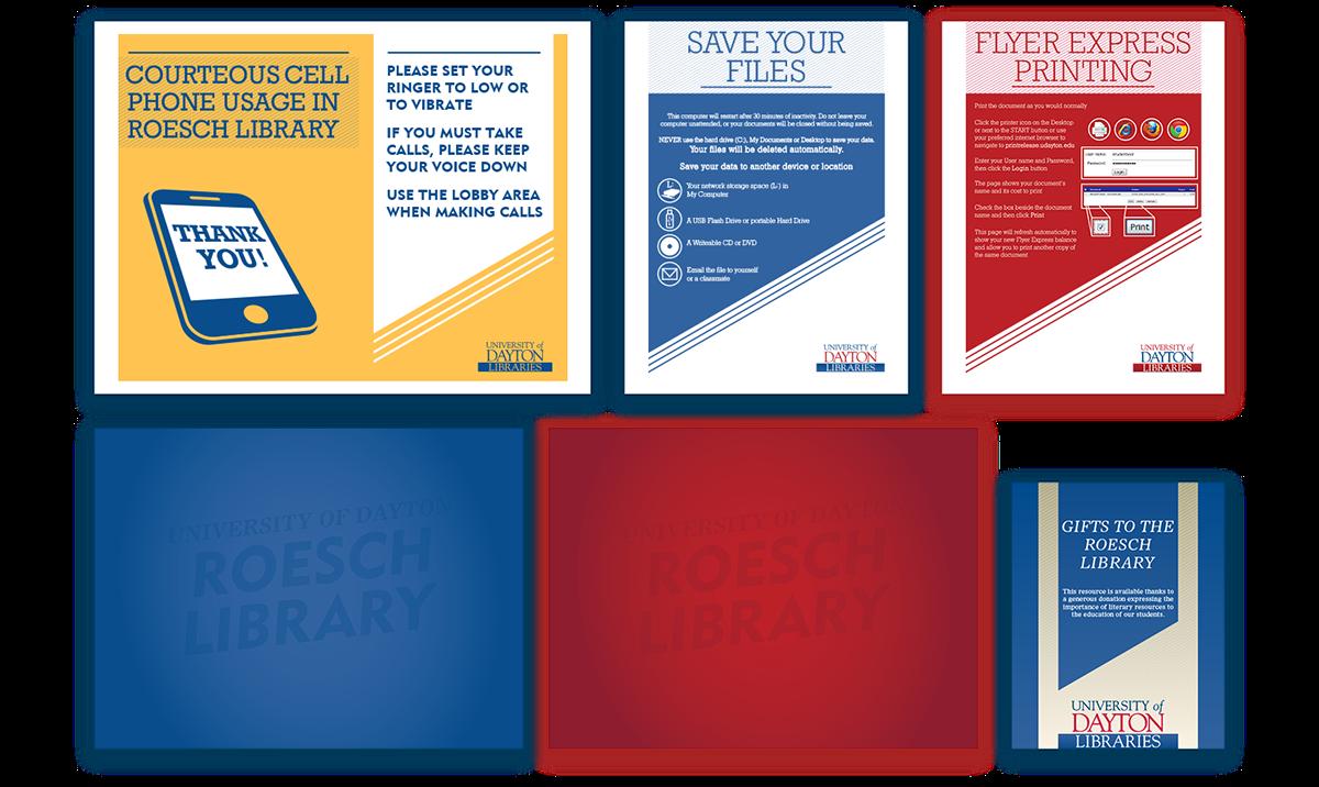 University Of Dayton Library Signage On Behance