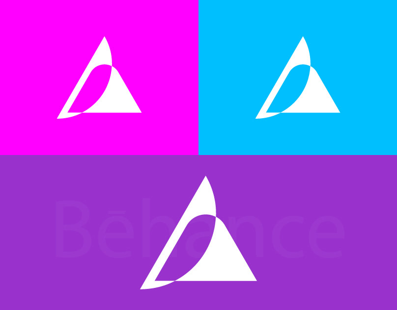 triangle logo creative triangle logo Trinity branding Logo Logo presentation creative logo graphic design  Logo Design