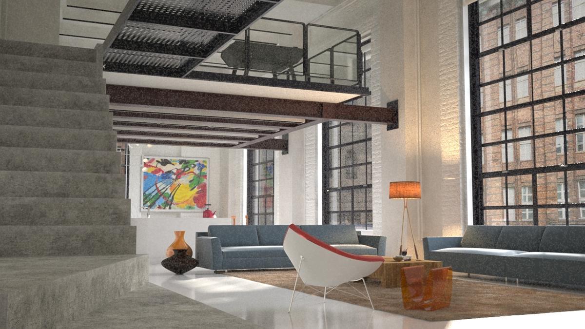 architecture interior design rendering 3ds max vray