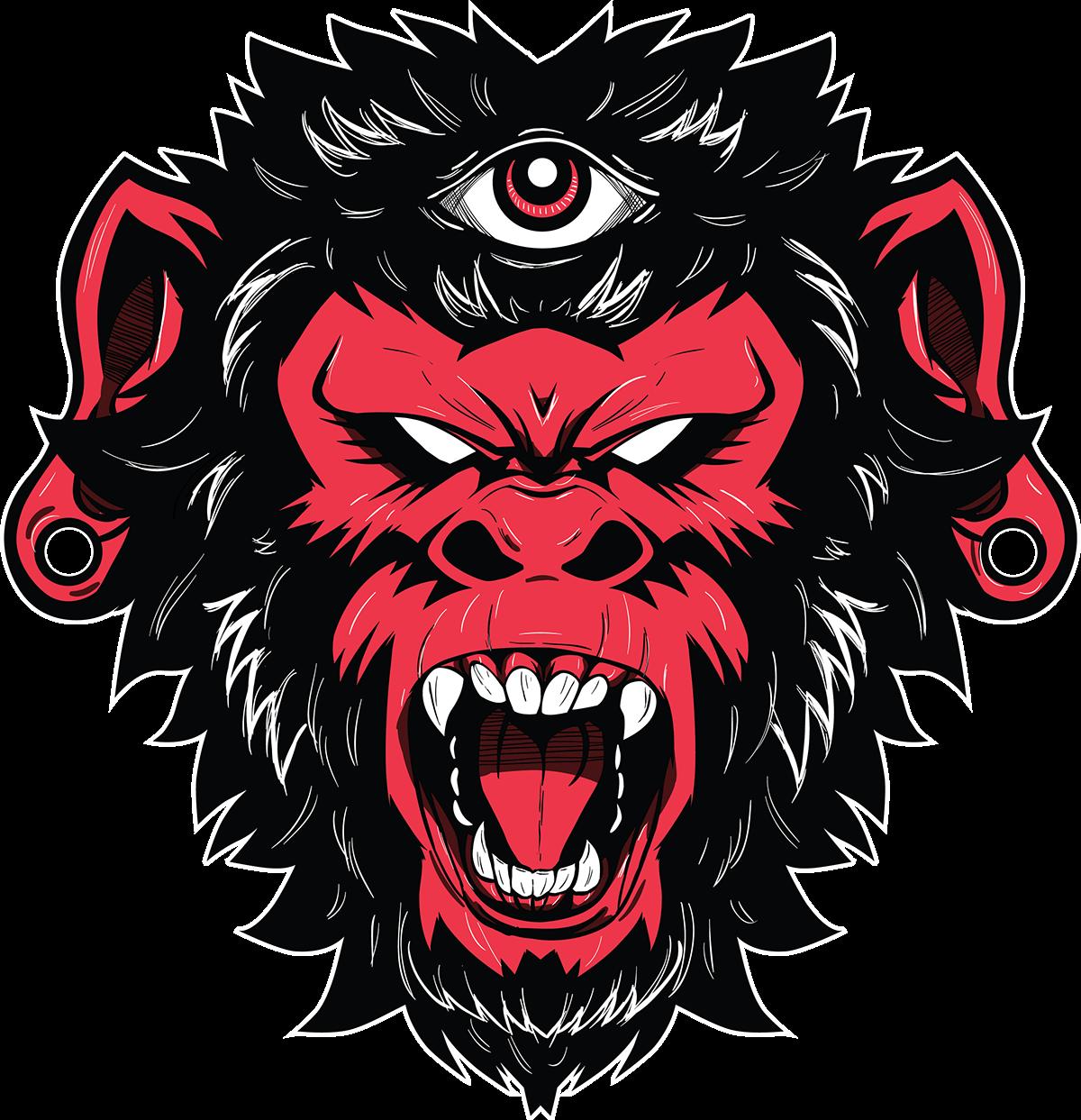 Demon Monkey On Behance