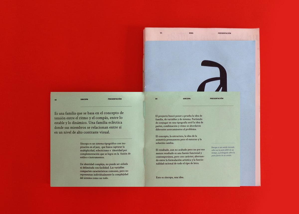 Sincopa Specimen Book Cdt Project On Behance