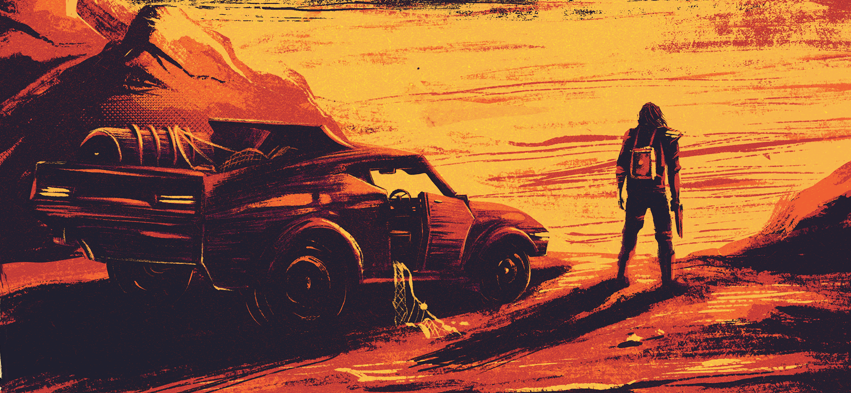 Mad MAX fury road tom hardy SKY apocalypse print poster art red yellow George miller