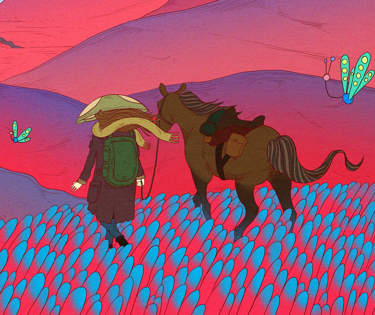 Image may contain: horse, cartoon and animal