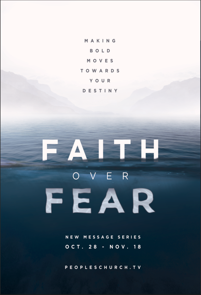 Faith Over Fear - Sermon Series on Behance