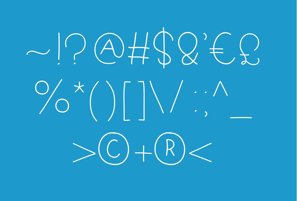 handwriting handwritten font Free font Typeface Display Fun blue skip leg day skipping leg day dilem Character tiny legs letter pangram