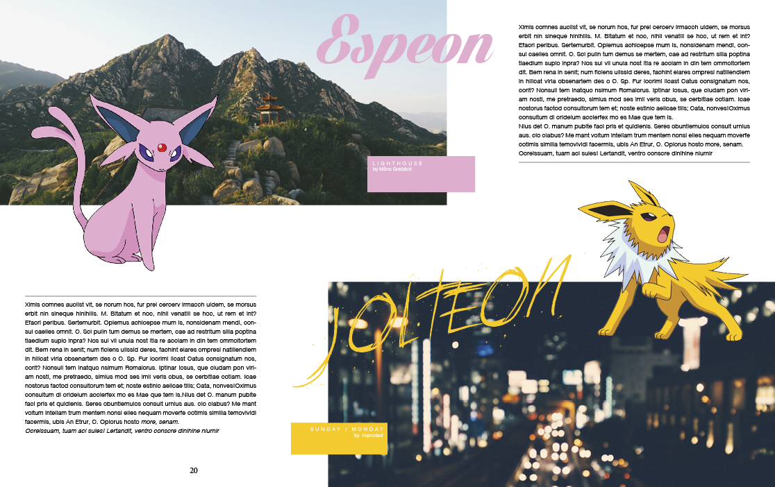 Eevee: Guide to the Evolutions (Book) on Behance