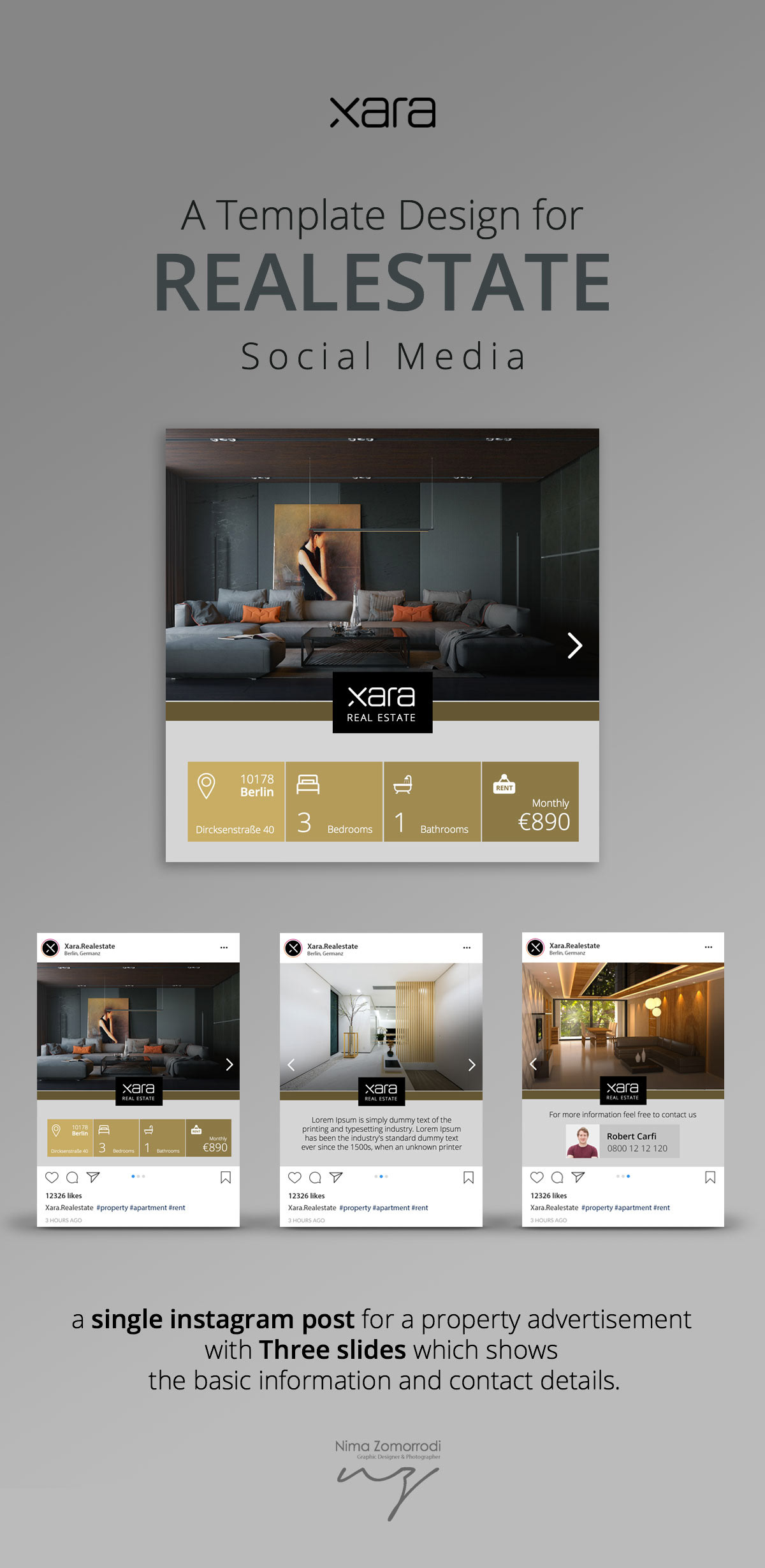 brochure UI/UX template Socialmedia presentation realestate design uidesign