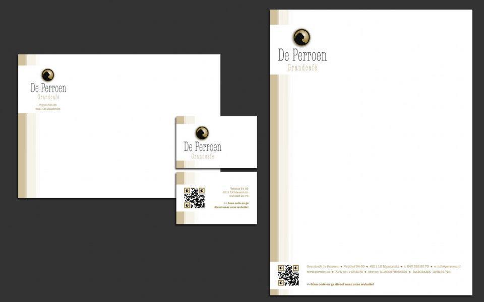 de Perroen Logo Design stationary huisstijl de perroen