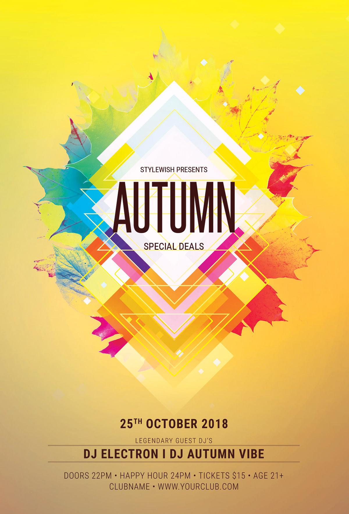 autumn flyer on behance