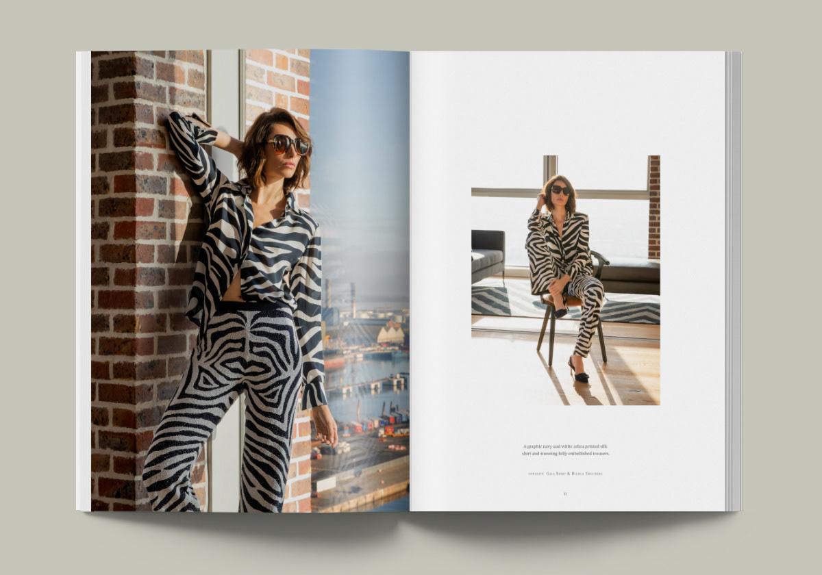 brochure campaign Fashion  graphic design  print typography