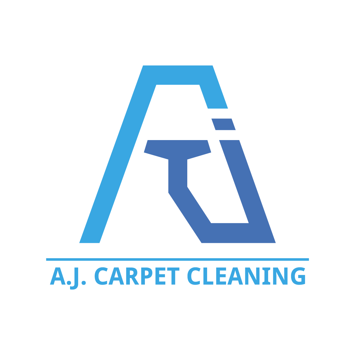 a j carpet cleaning logo on behance