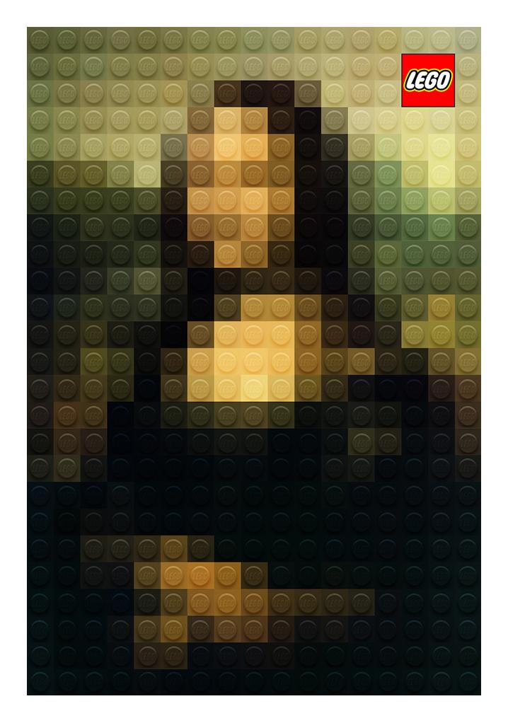 leonardo da vinci Da Vinci LEGO gioconda dama ermellino ragazza con l'orecchino perla jan vermeer Jan Vermeer pixel texture LEGOLAND Pixel art