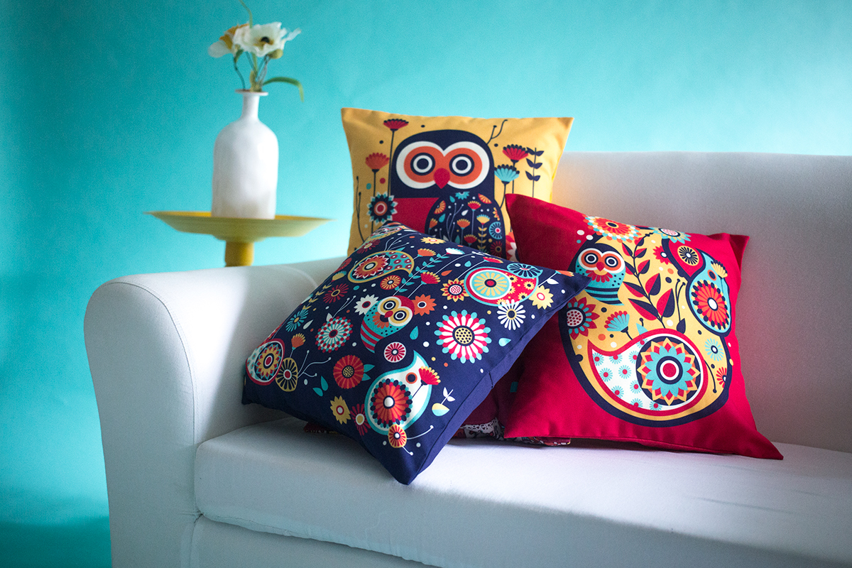 Paisley owls chumbak on pantone canvas gallery for Rohan design