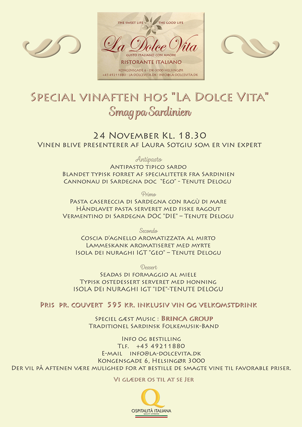 cheap for discount 89f52 d14d1 Menu for La Dolce Vita special dinner on Behance