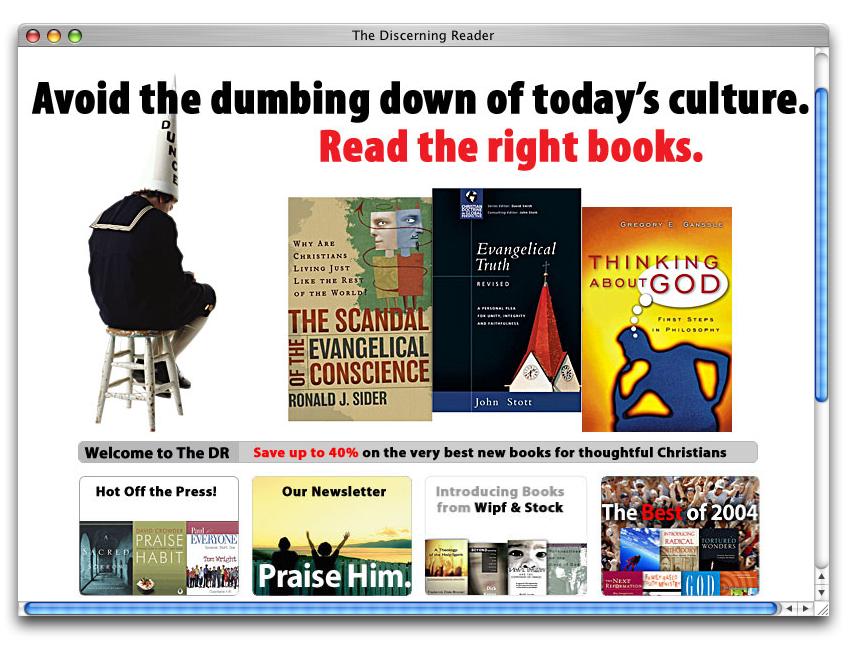 The Discerning Reader — An Online Bookshop on Behance