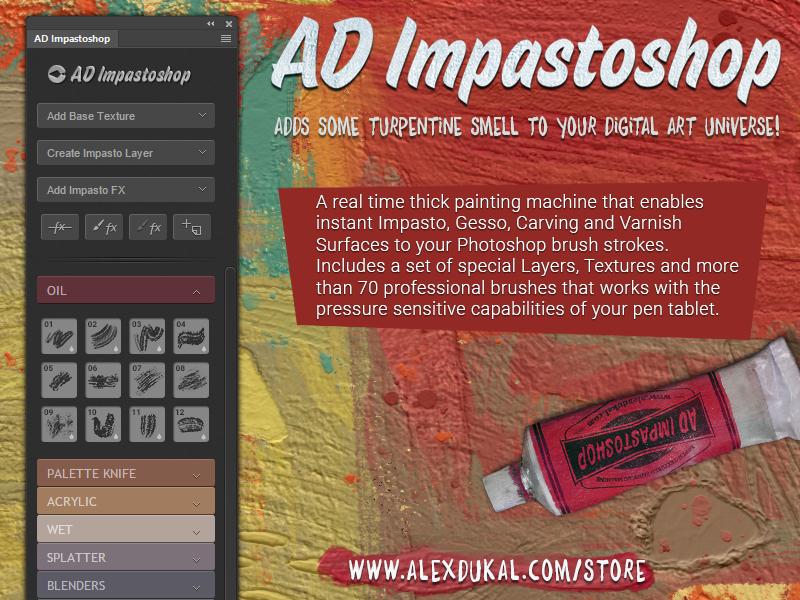 AD Impastoshop - Photoshop Panel on Behance