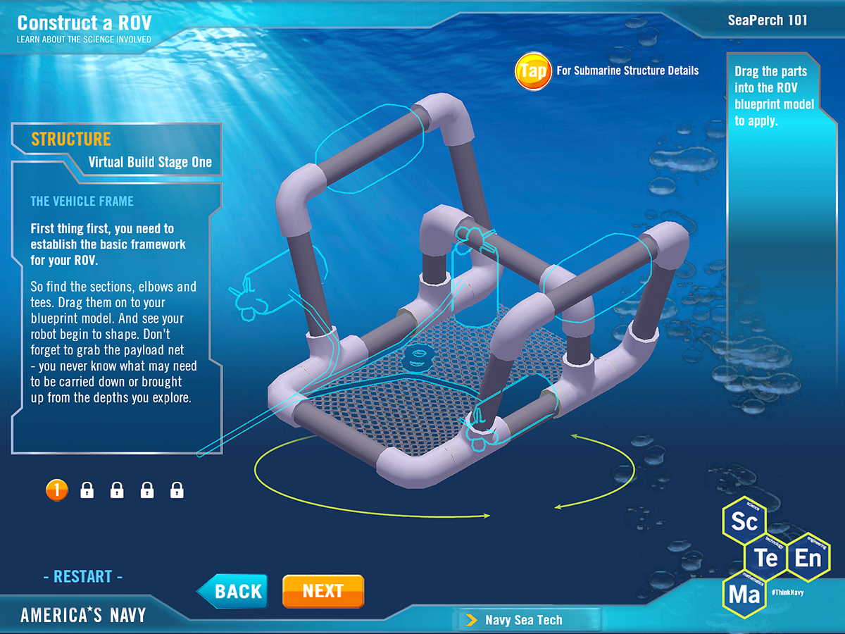 3D Underwater Environment App to Educate on Behance
